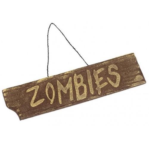 Panneau Zombies