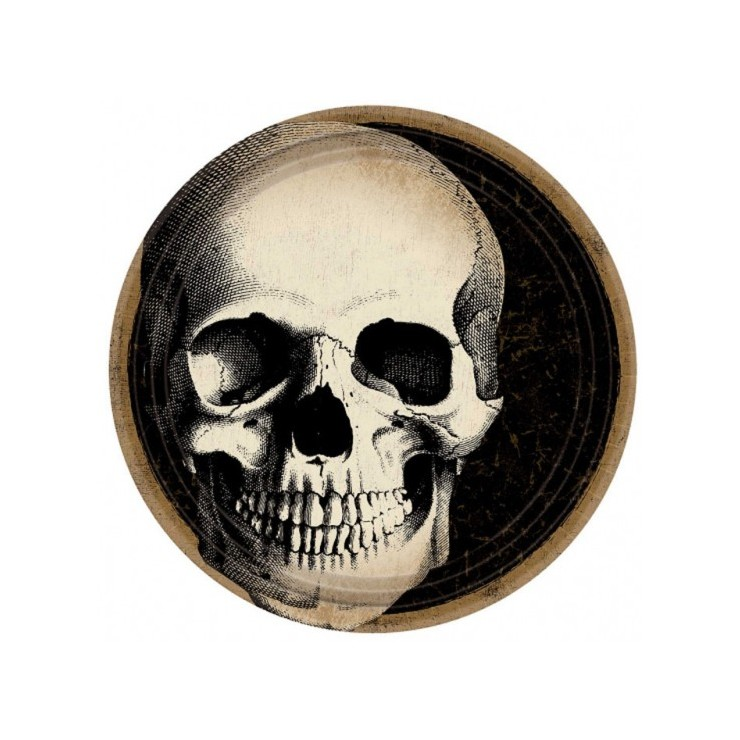 Assiettes Boneyard x10