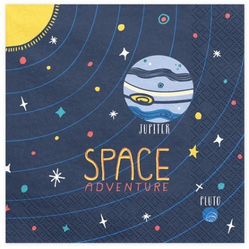 Serviettes space adventure x20