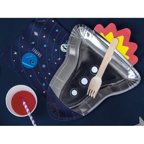 Assiettes fusée space adventure x6