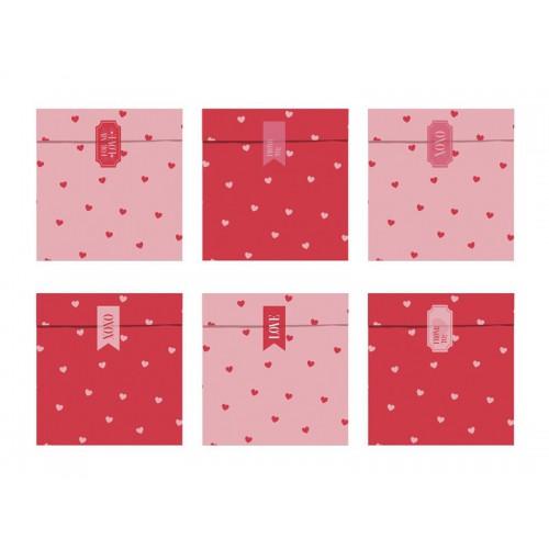 Sacs à friandises saint Valentin x6