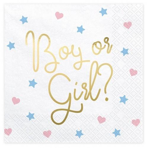 Serviettes boy or girl ? x20