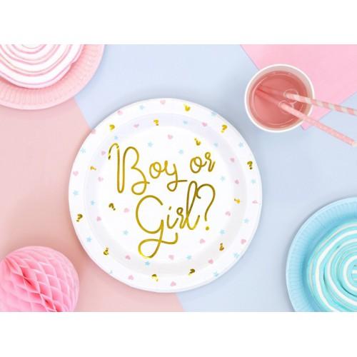Assiettes boy or girl ? x6