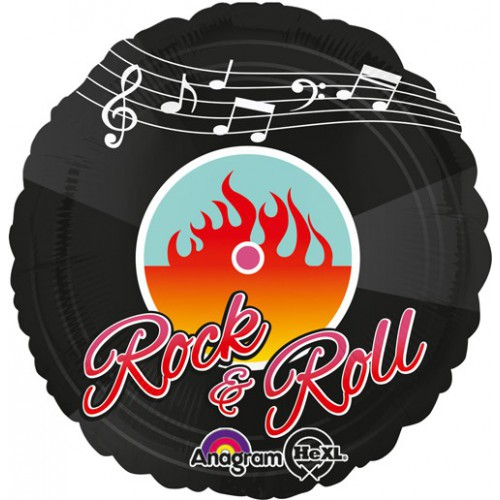 Ballon disque vinyle Rock & Roll