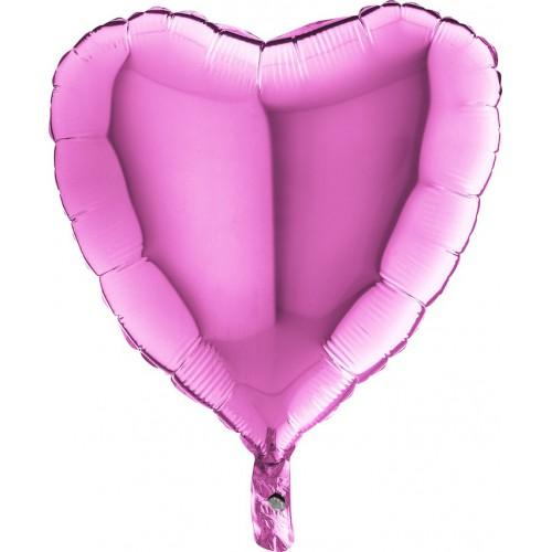 """Ballon mylar coeur fushia 18"""""""