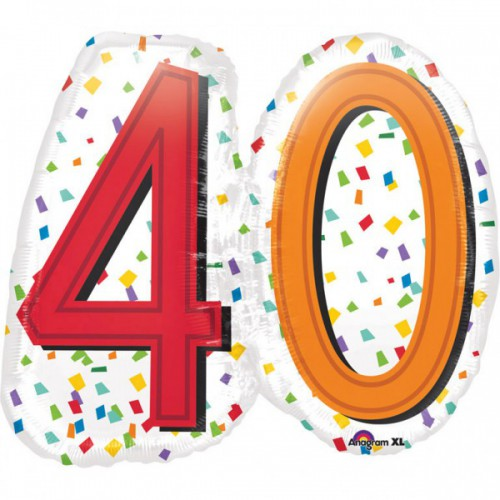 Ballon 40 ans 60cm