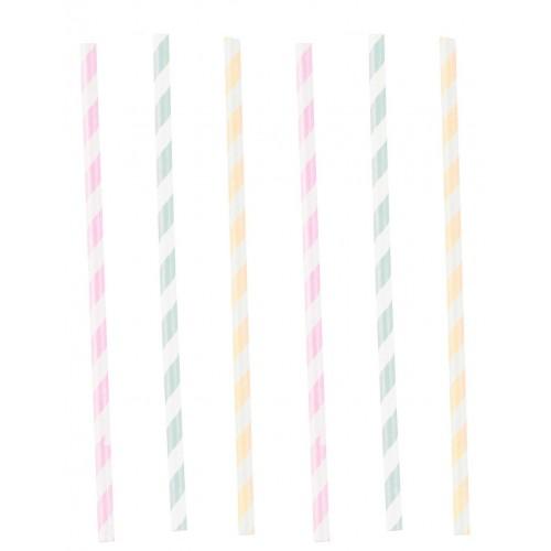 Pailles happy birthday pastel x12