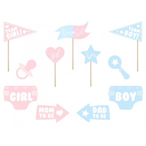 Kit photobooth gender reveal party