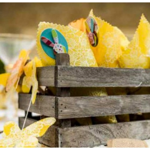 Set de table lin jaune x4