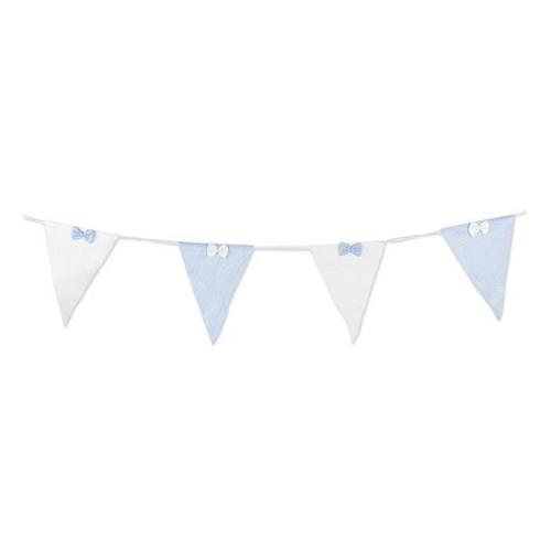 Guirlande de fanions bleus et blancs