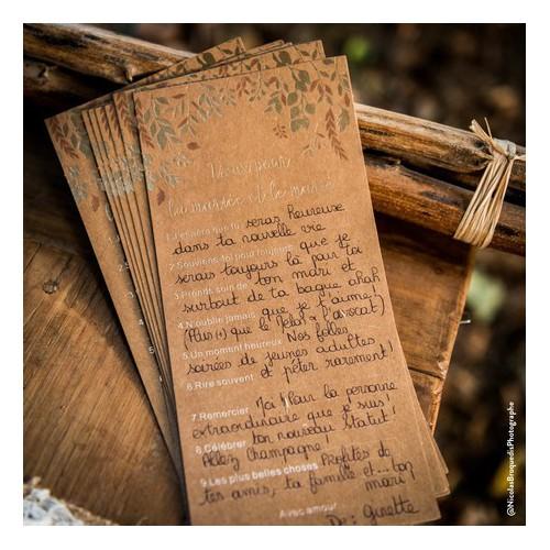 Carte de voeux pour mariés x10