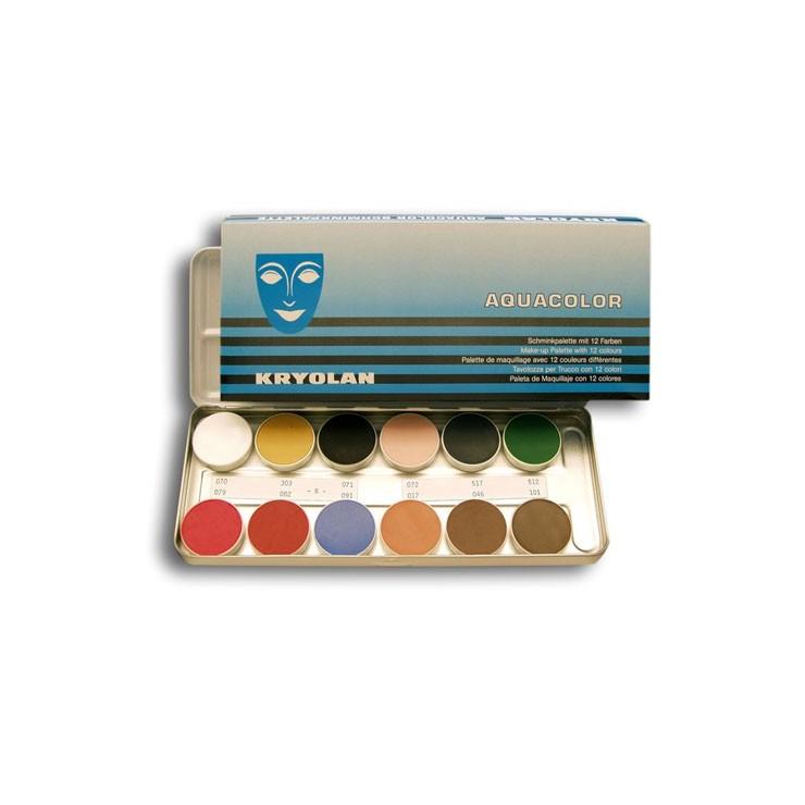 Palette Aquacolor Kryolan 12 couleurs
