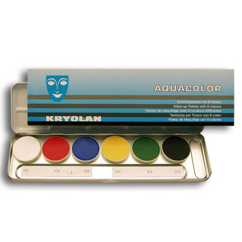 Palette Aquacolor Kryolan 6 couleurs