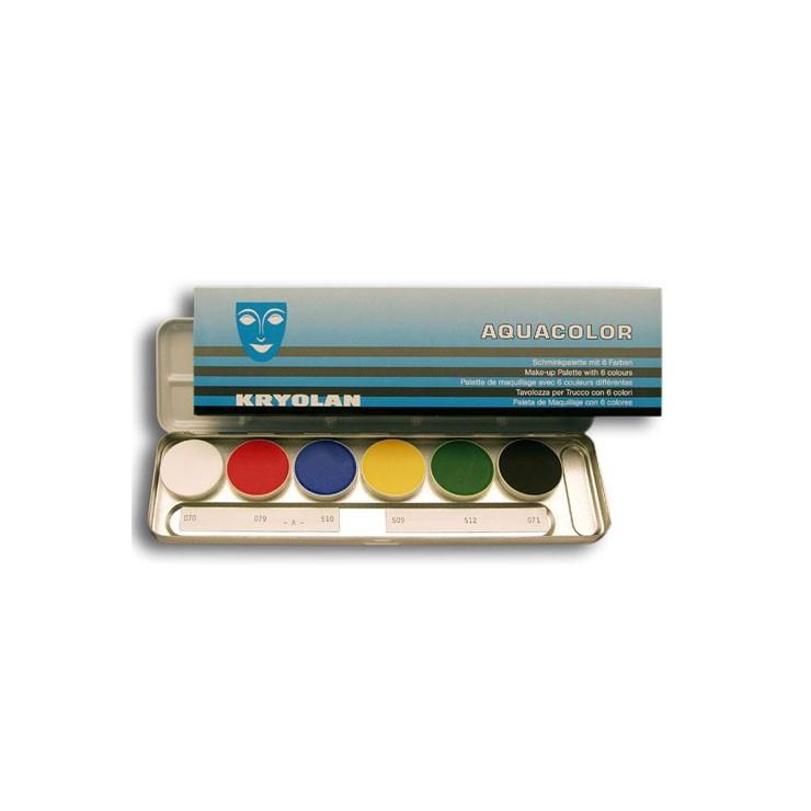 Palette Aquacolor Kryolan 6 couleurs