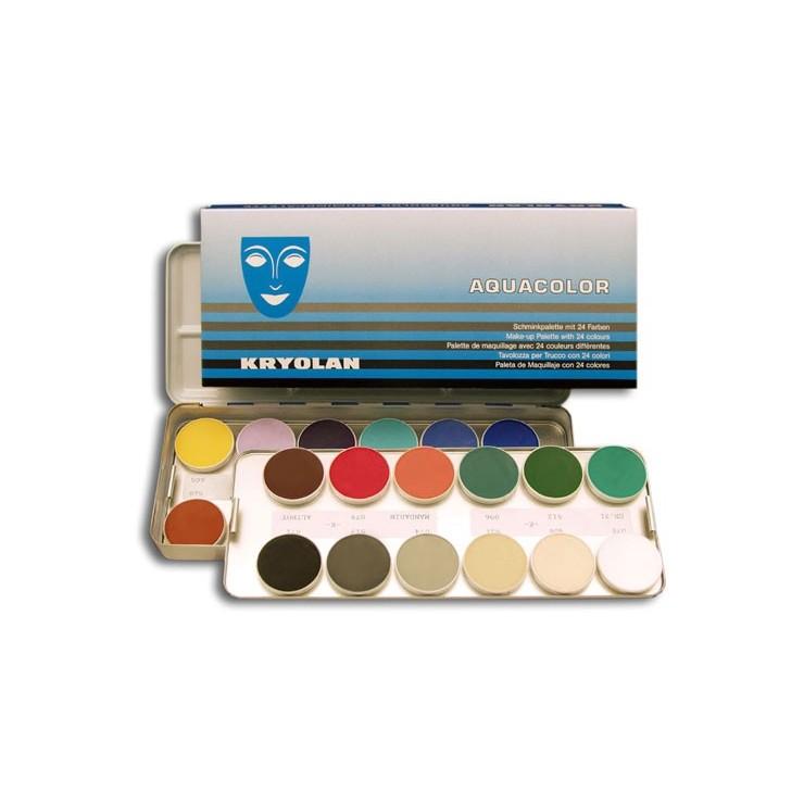 Palette Aquacolor kryolan 24 couleurs