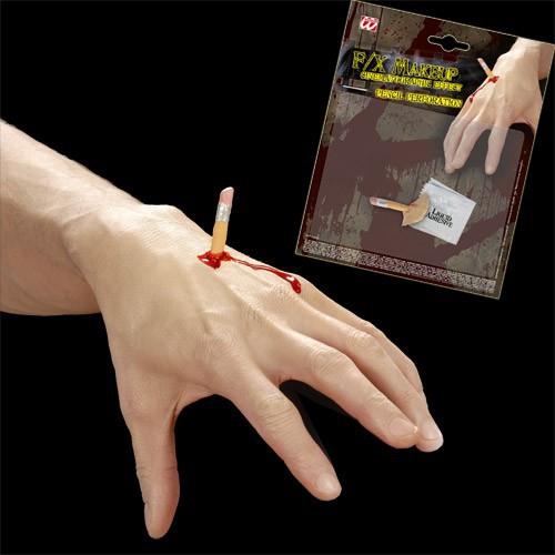 Crayon dans la mains