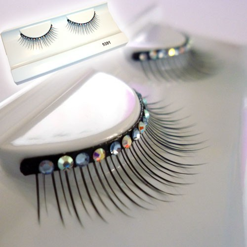 Faux cils strass