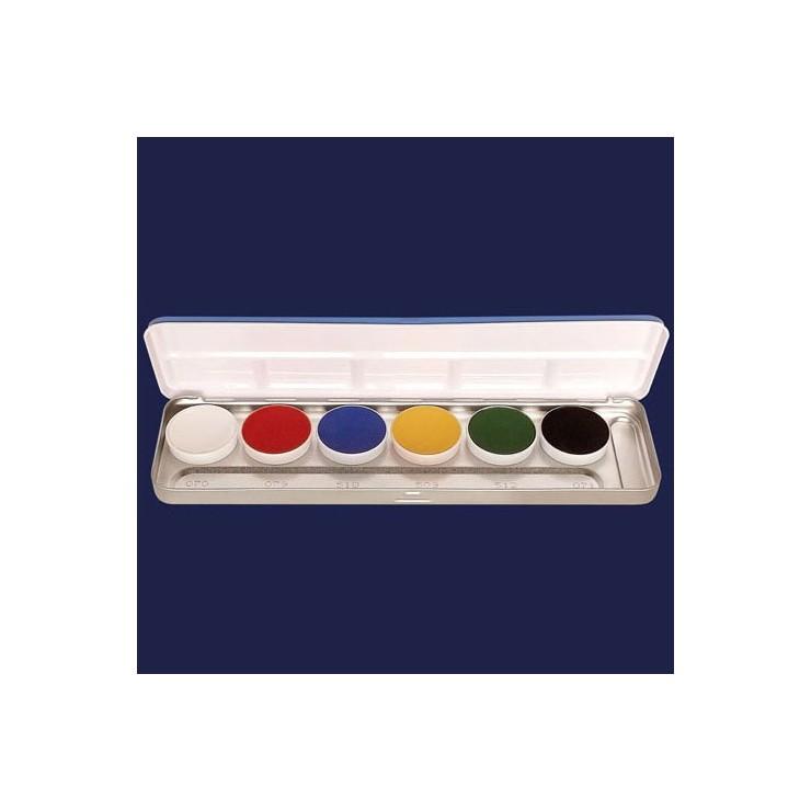 Palette fard gras 6 couleurs