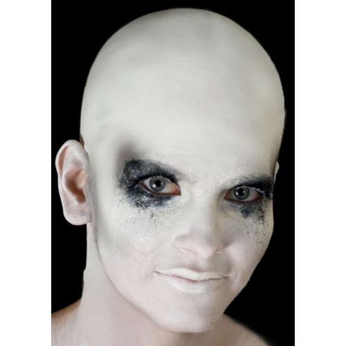 Crâne chauve blanc en latex