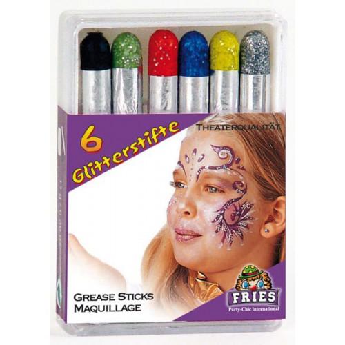 Crayons de paillettes x6