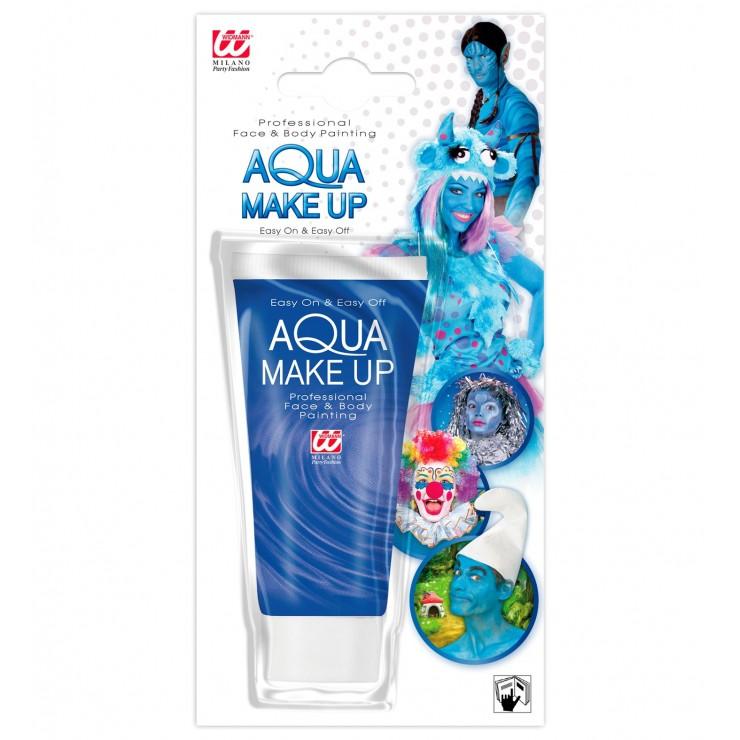 Maquillage à l'eau bleu