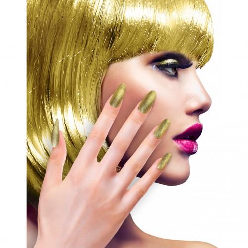 Faux ongles dorés