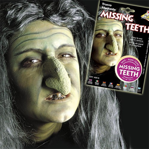 maquillage dents manquantes