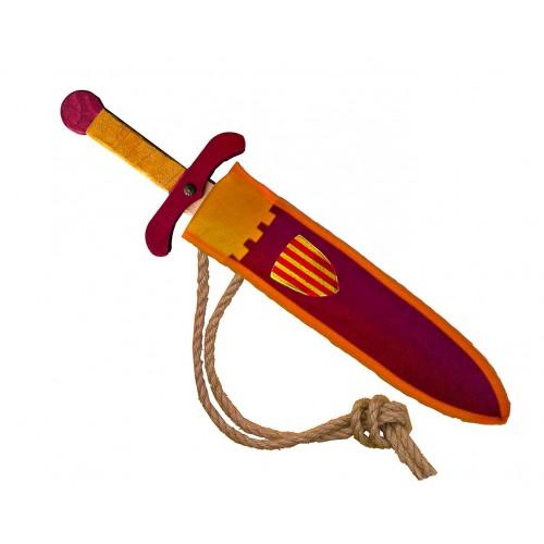 Épée Camelot en bois avec fourreau