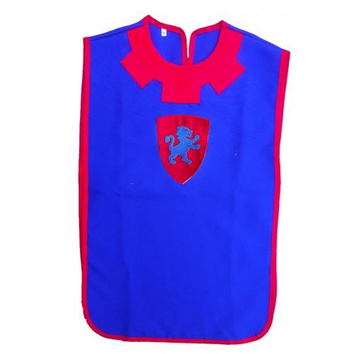 Tabard bleu et rouge pour enfant