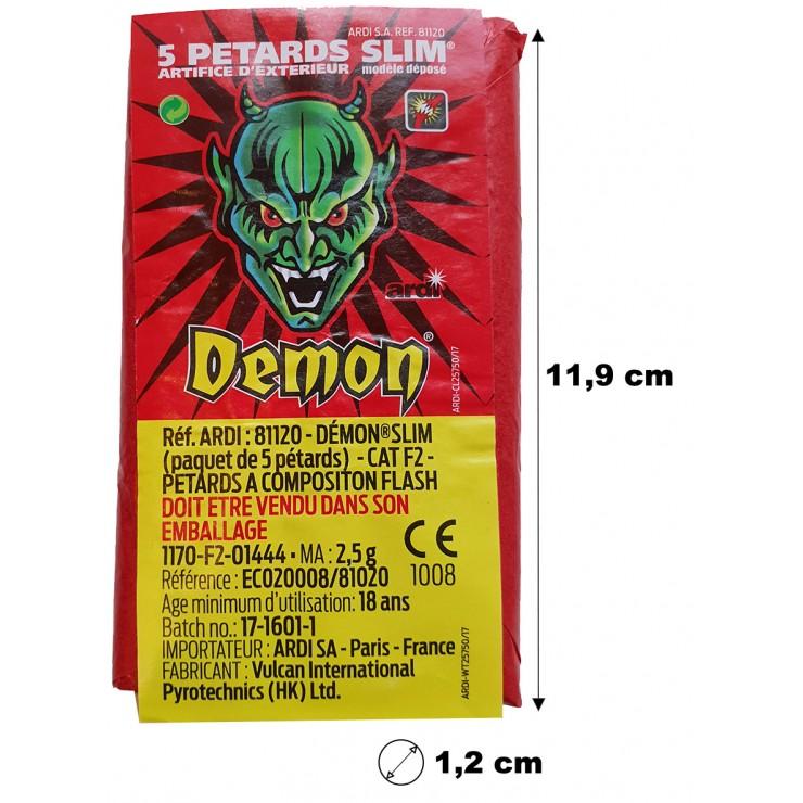 Petard démon slim x5