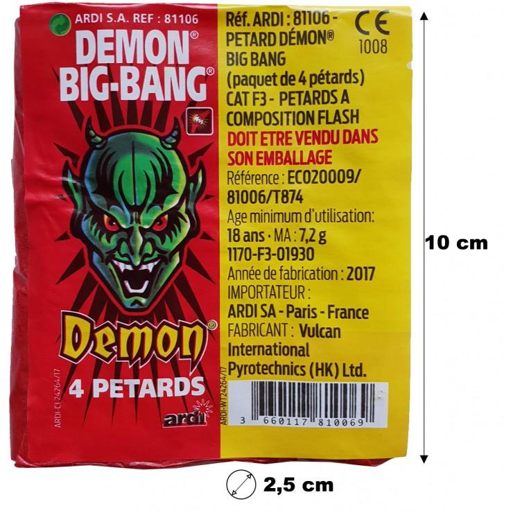 Pétards démon Big-bang x4