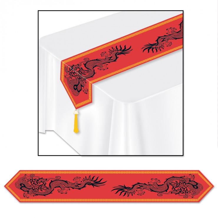Chemin de table imprimés chinois