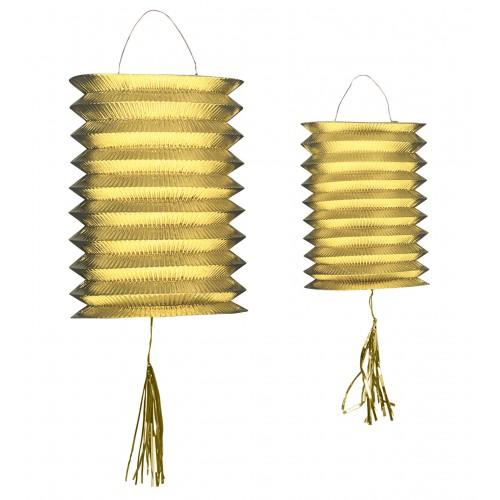 """Set de 2 lanternes """"metal oro"""""""