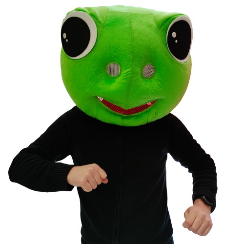 Tête mascotte grenouille