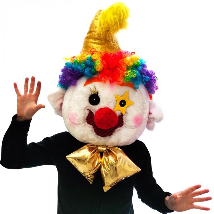 Tête mascotte clown