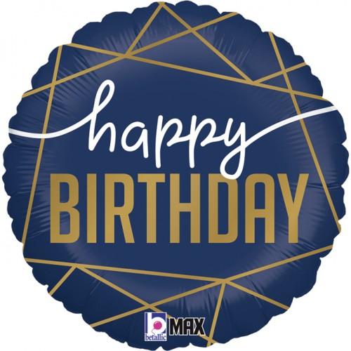Ballon happy birthday navy