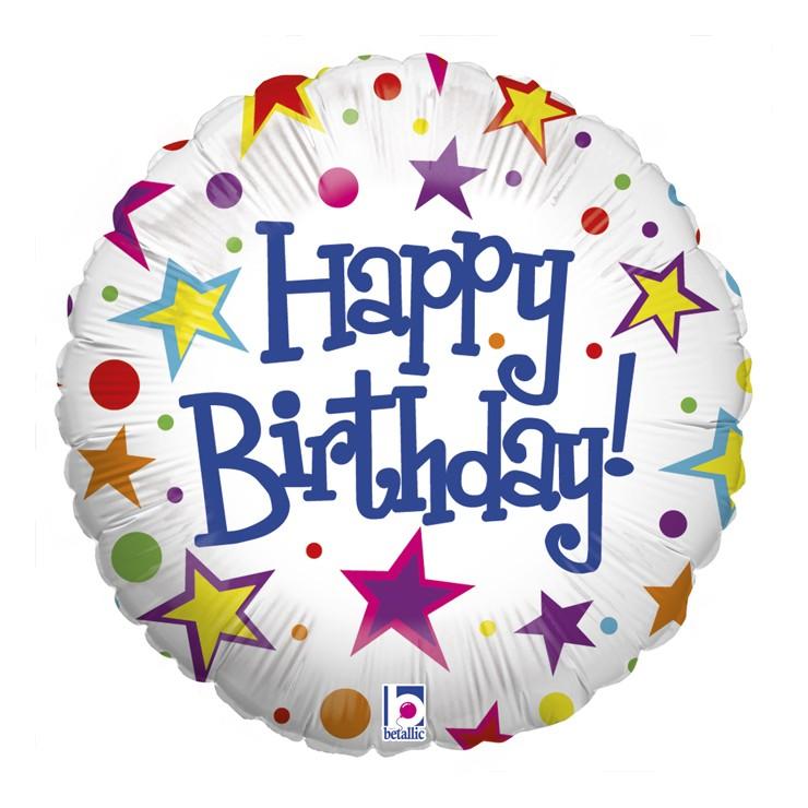 Ballon mylar white bright birthday