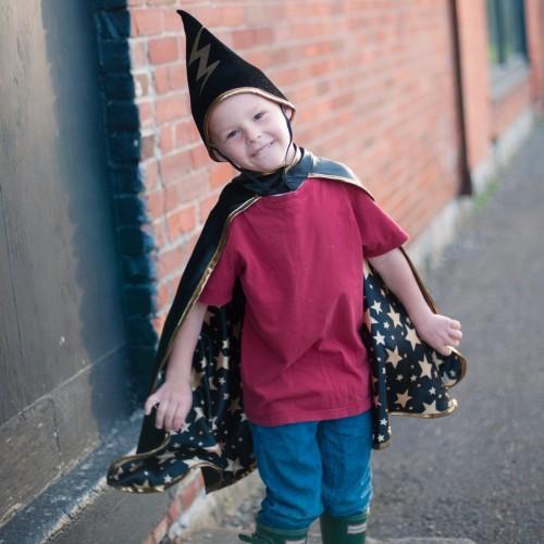 Cape de sorcier avec chapeau