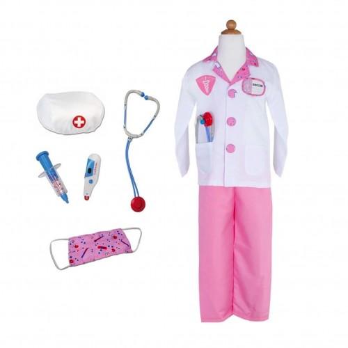Déguisement docteur rose enfant