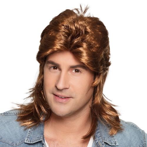 Perruque homme années 80 brune