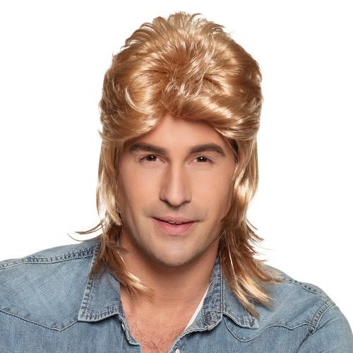 Perruque homme années 80 blonde