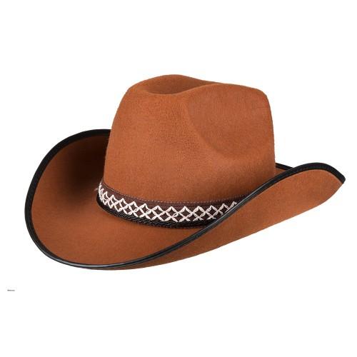 Chapeau de cowboy marron enfant