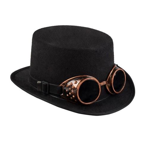 Chapeau avec lunettes steampunk
