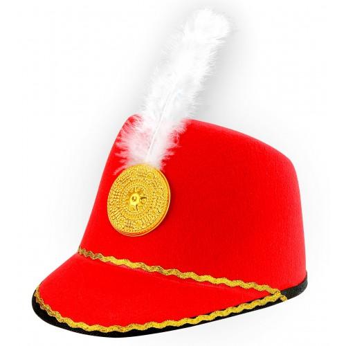Chapeau majorette rouge