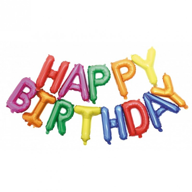Ballons mylar Happy Birthday