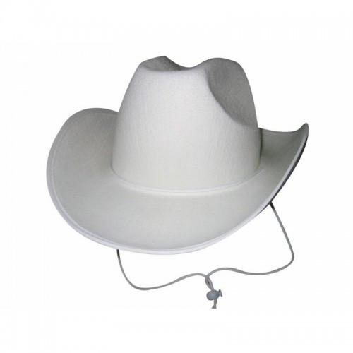 Chapeau cowboy blanc