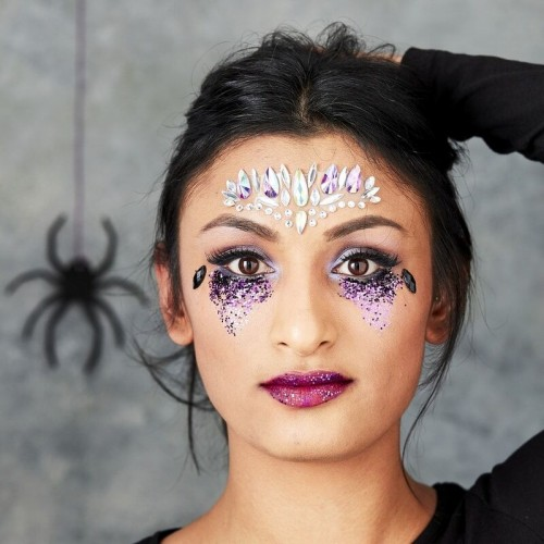 Kit maquillage Halloween gemmes et paillettes