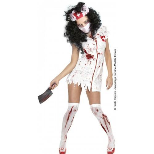 Déguisement infirmière Zombie