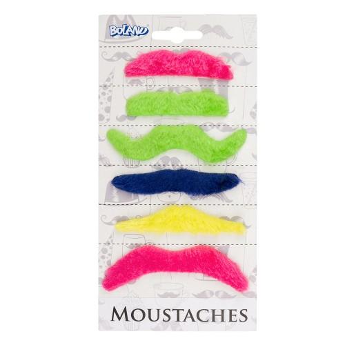 Moustaches fantaisies x6