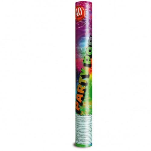 Canon à confettis et serpentins multicolores